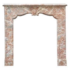 Regency Style Gray Ardennes Marble Fireplace