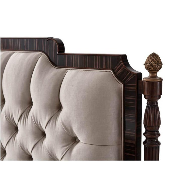English Regency Style King Size Bed For Sale
