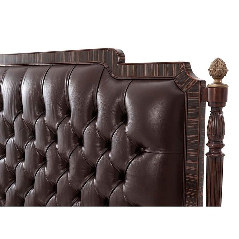 European Regency Style King Size Bed For Sale