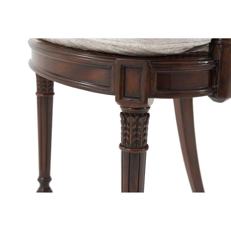 Contemporary Regency Style Lattice Back Armchair For Sale