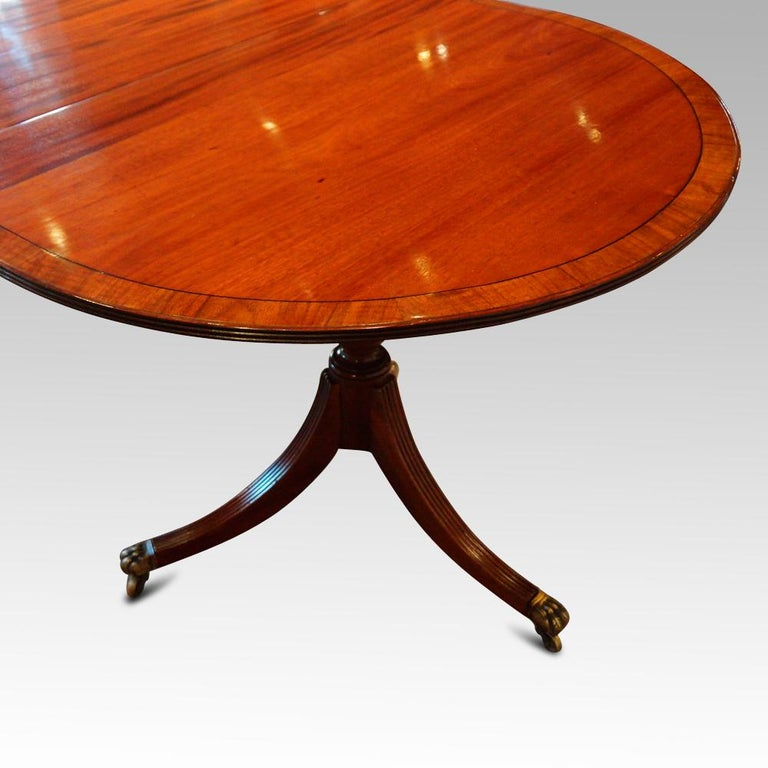 regency style mahogany 12 seat dining table for sale at