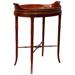 Regency Style Mahogany and Brass Bound Tray Table