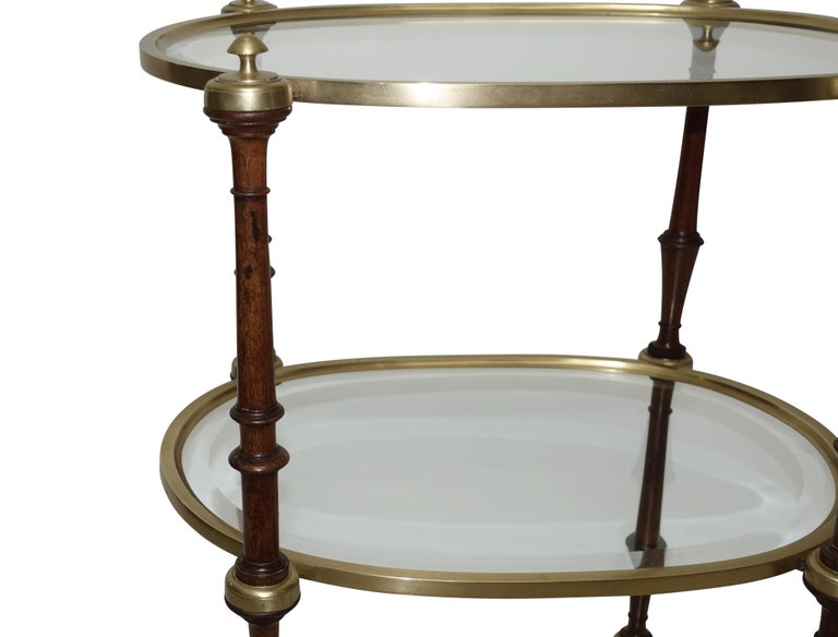 Regency Style Mahogany and Brass Three-Tier Table In Good Condition For Sale In San Francisco, CA