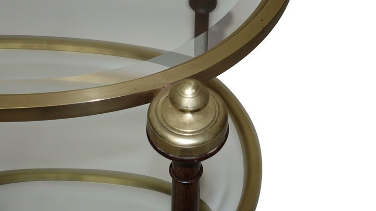 Regency Style Mahogany and Brass Three-Tier Table For Sale 3