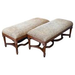 Regency Style Mahogany Bench, Sold Singly