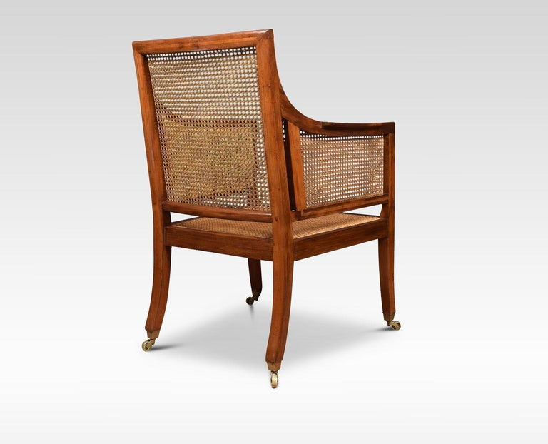 19th Century Regency Style Mahogany Bergère Armchair For Sale