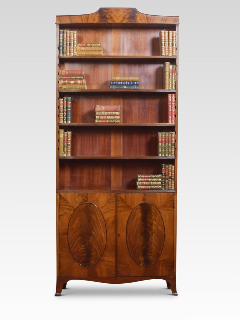 British Regency Style Mahogany Bookcase For Sale