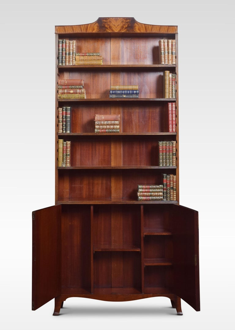 20th Century Regency Style Mahogany Bookcase For Sale