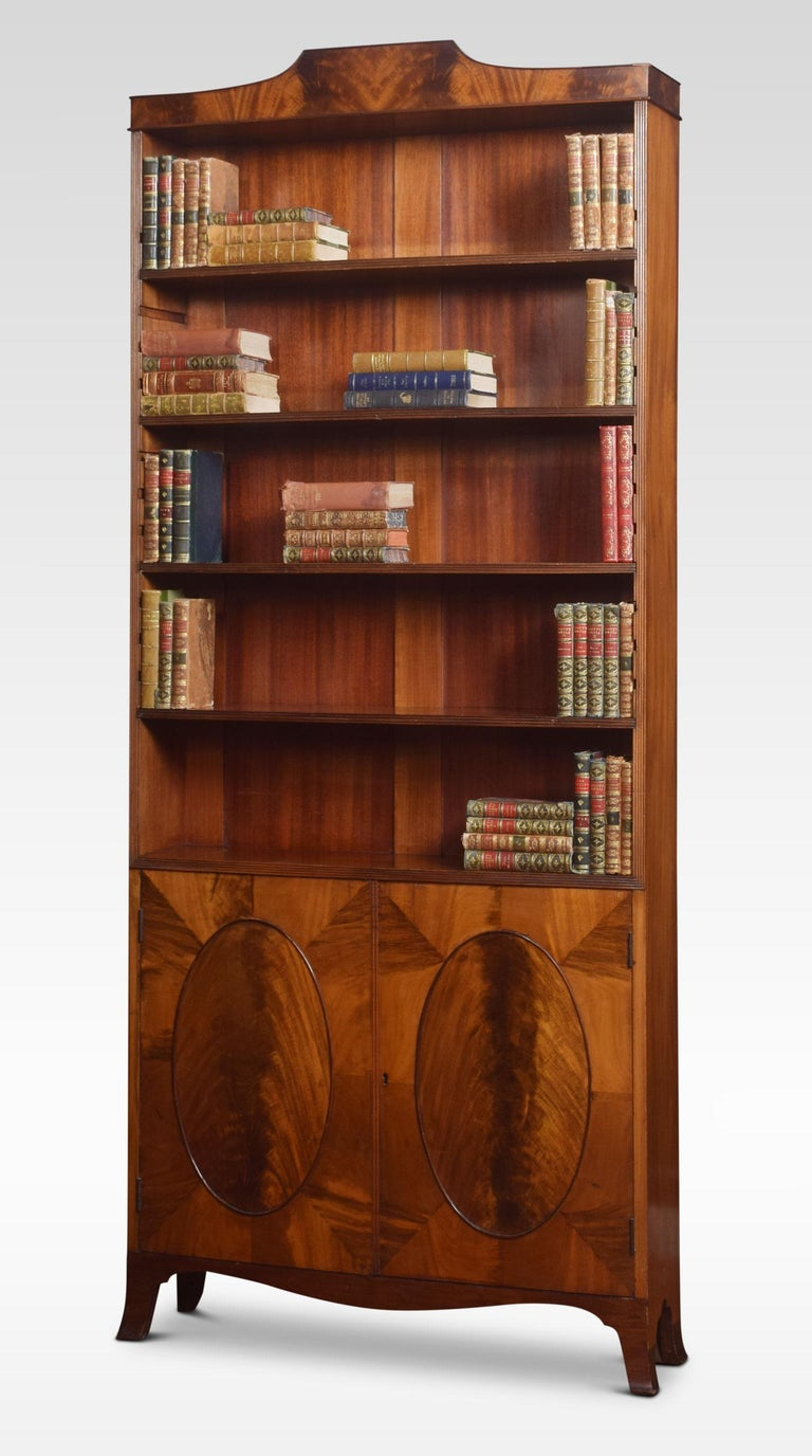 Regency Style Mahogany Bookcase For Sale 1