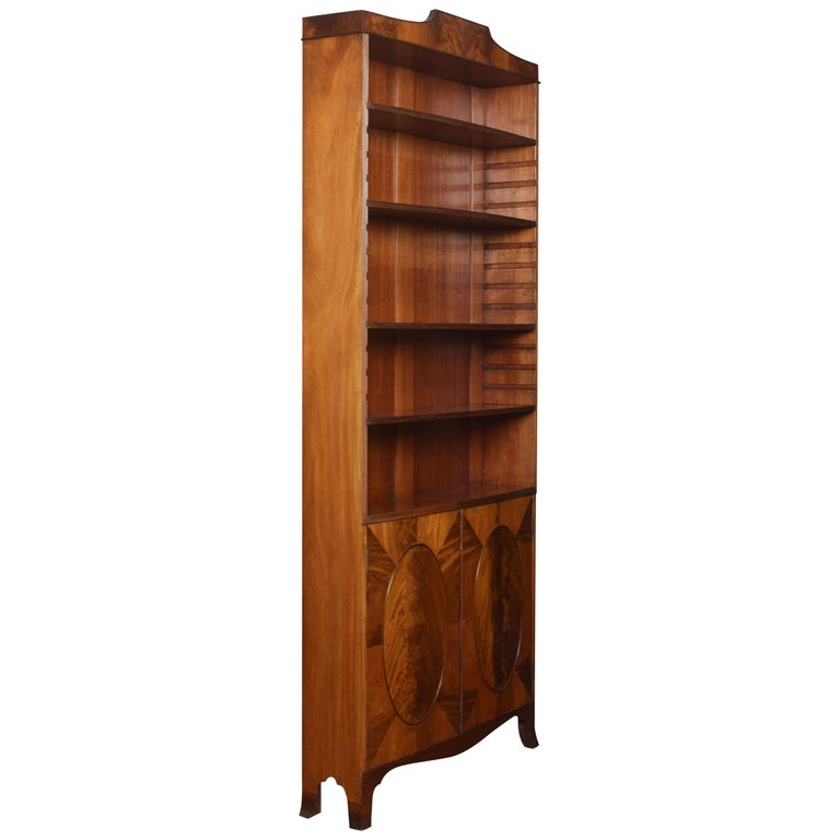 Regency Style Mahogany Bookcase For Sale