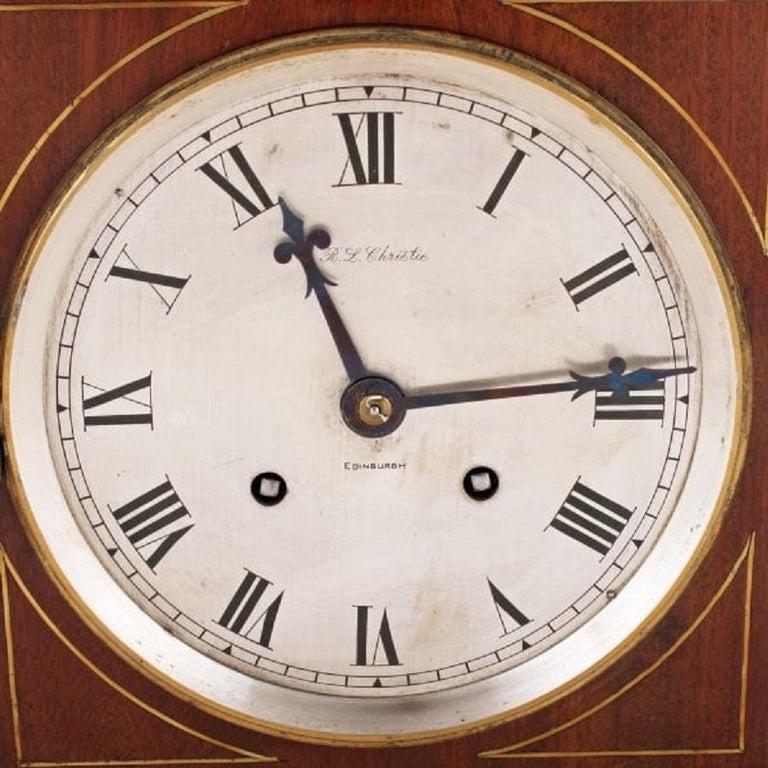 European Regency Style Mahogany Bracket Clock, 20th Century