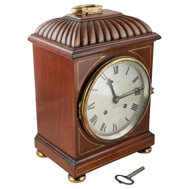 Regency Style Mahogany Bracket Clock, 20th Century