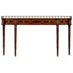 Regency Style Mahogany Console Table