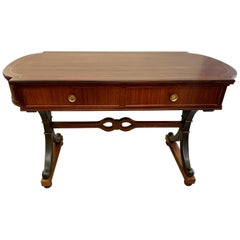 Regency Style Mahogany Inlay Desk Sofa Table
