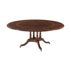 Regency Style Mahogany Round Extending Dining Table