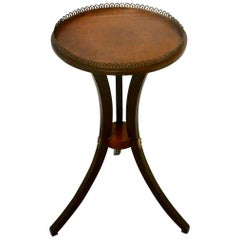 Regency Style Mahogany Wine Table with Gallery