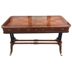 Regency Style Mahogany with Inlay Console/Center Table