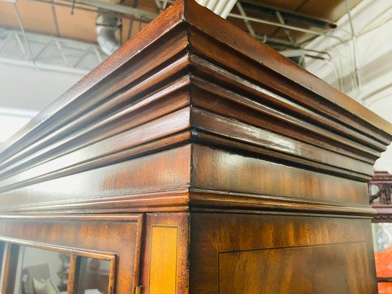 Regency Style Maitland Smith Flame Mahogany Burl Two Part Secretary Desk For Sale 10