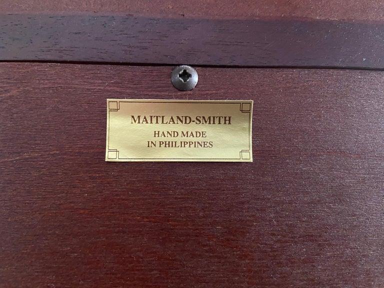 Regency Style Maitland Smith Flame Mahogany Burl Two Part Secretary Desk For Sale 12