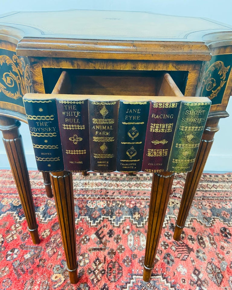 Regency Style Maitland Smith Mahogany and Leather Library Book Table, a Pair For Sale 5