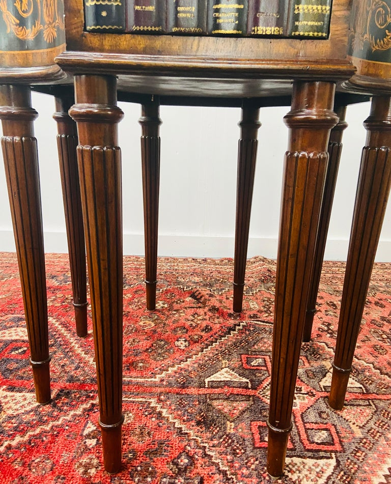 Regency Style Maitland Smith Mahogany and Leather Library Book Table, a Pair For Sale 7