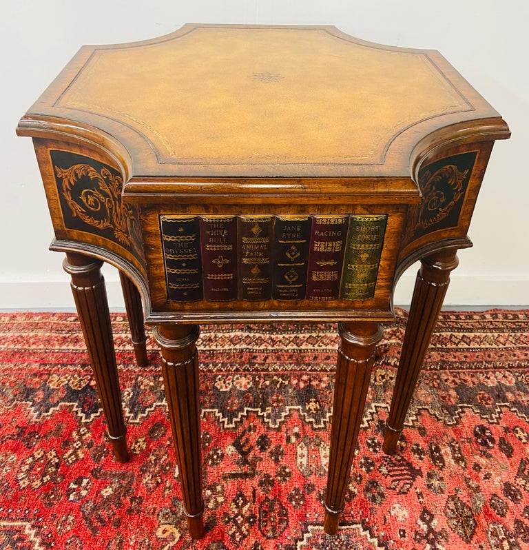 Regency Style Maitland Smith Mahogany and Leather Library Book Table, a Pair In Good Condition For Sale In Plainview, NY