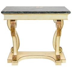 Regency Style Marble-Top Console Table