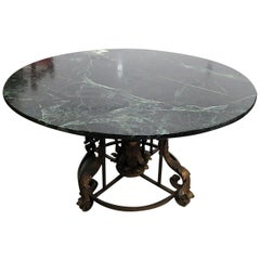 Regency Style Marble-Top Dining Room Table