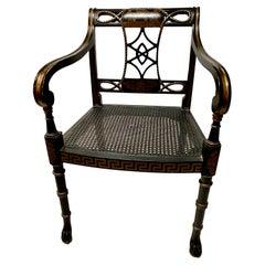 Regency-Style Open Arm Chair