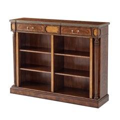 Regency Style Open Bookcase