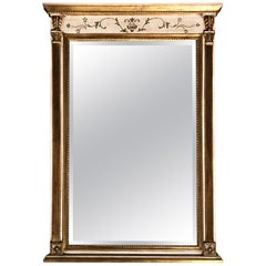 Regency Style Painted and Gilt Mirror