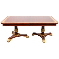 Regency Style Parcel Gilt Mahogany Dining Table