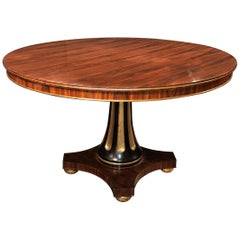 Regency Style Rosewood Center Table