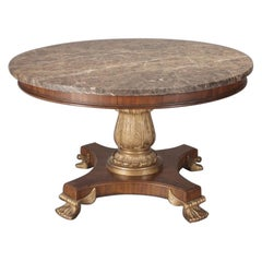 Regency Style Round Center Table