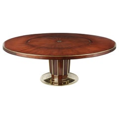 Regency Style Round Dining Table by Baker with Lazy Susan