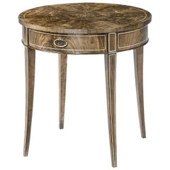 Regency Style Round End Table