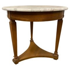 Regency Style Round Marble Top Table