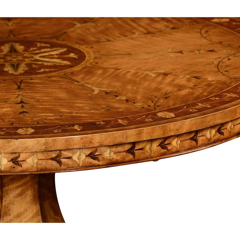 Contemporary Regency Style Satinwood Center Table For Sale
