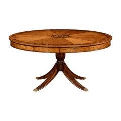 Regency Style Satinwood Round Dining Table