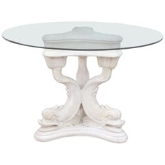 Regency Style Sculpted Dolphin Dining/Center Table