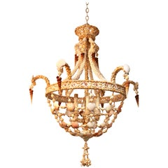 Regency Style Seashell Encrusted Chandelier
