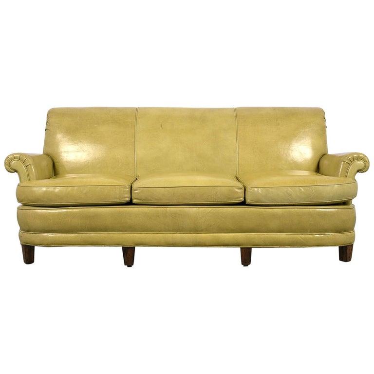 Sensational Regency Style Three Seat Leather Sofa Machost Co Dining Chair Design Ideas Machostcouk
