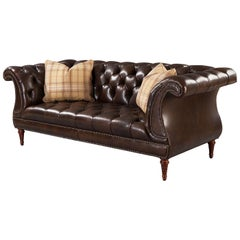 Regency Style Tufted Lyre Sofa