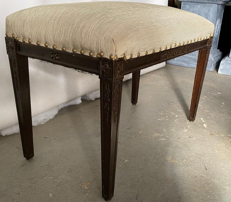 20th Century Regency Style Upholstered Bench For Sale