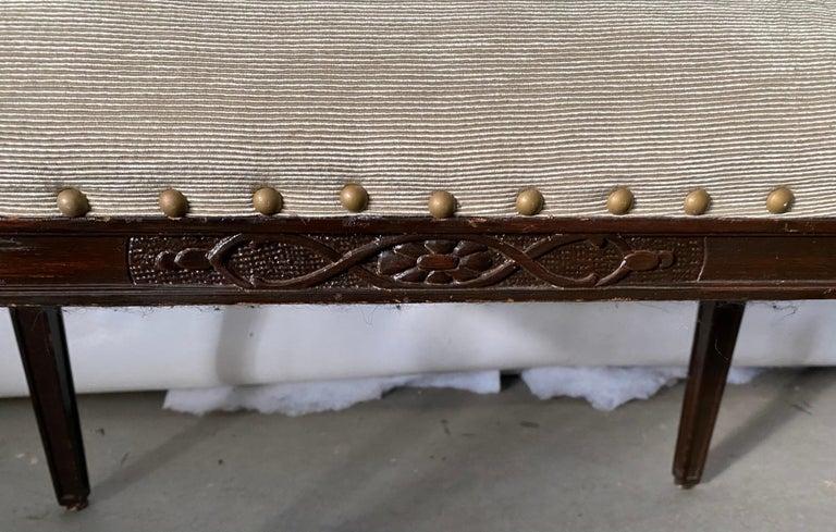 Upholstery Regency Style Upholstered Bench For Sale