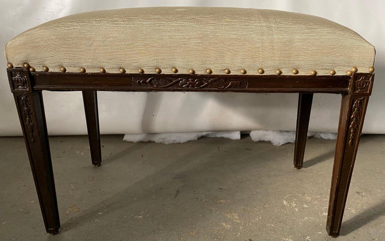 Regency Style Upholstered Bench For Sale 1