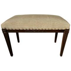 Regency Style Upholstered Bench