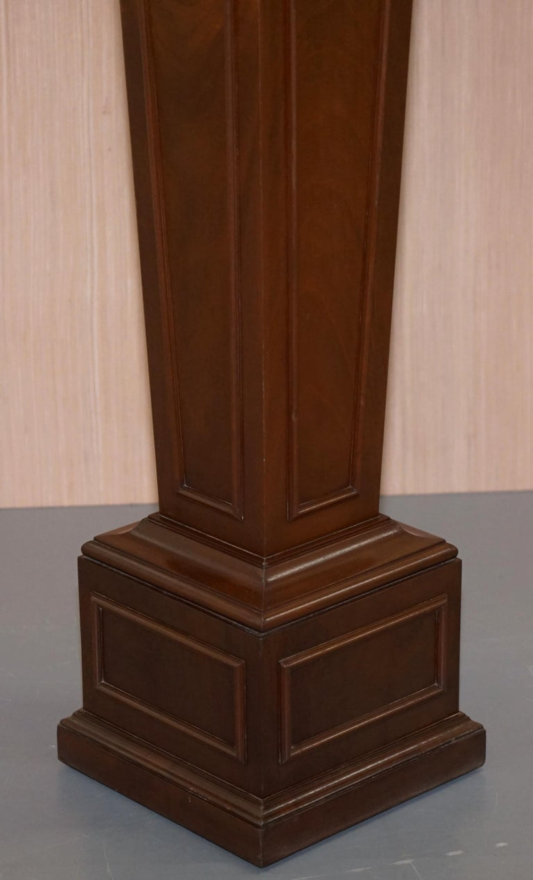Regency Style Walnut circa 1900 Pedestal Jardiniere Stand for Busts Statues Etc For Sale 4