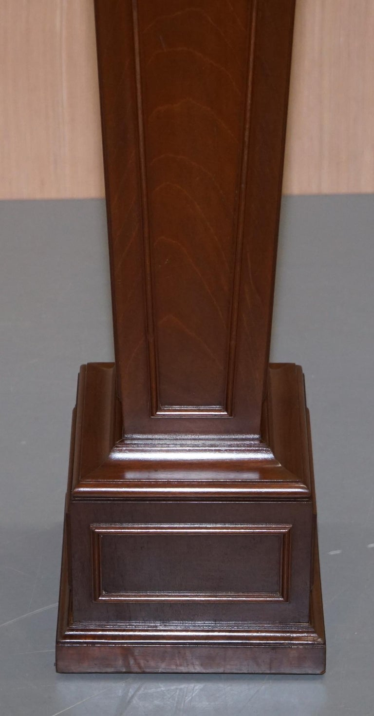 Hand-Crafted Regency Style Walnut circa 1900 Pedestal Jardiniere Stand for Busts Statues Etc For Sale