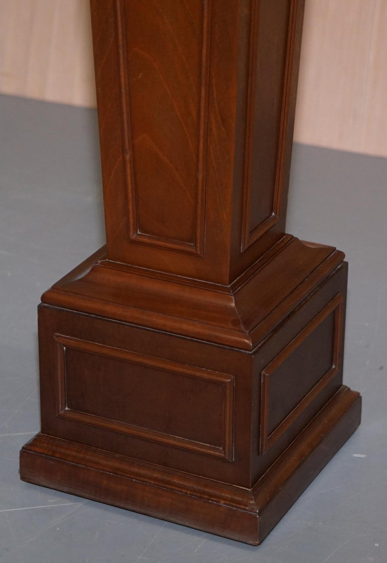 Regency Style Walnut circa 1900 Pedestal Jardiniere Stand for Busts Statues Etc In Good Condition For Sale In London, GB